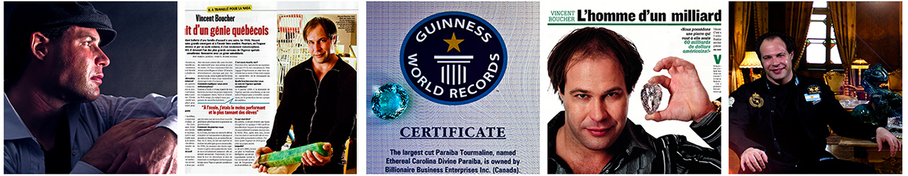 MONTRÉAL.AI's Chairman Vincent Boucher holds a Guinness World Records in the high jewelry industry.